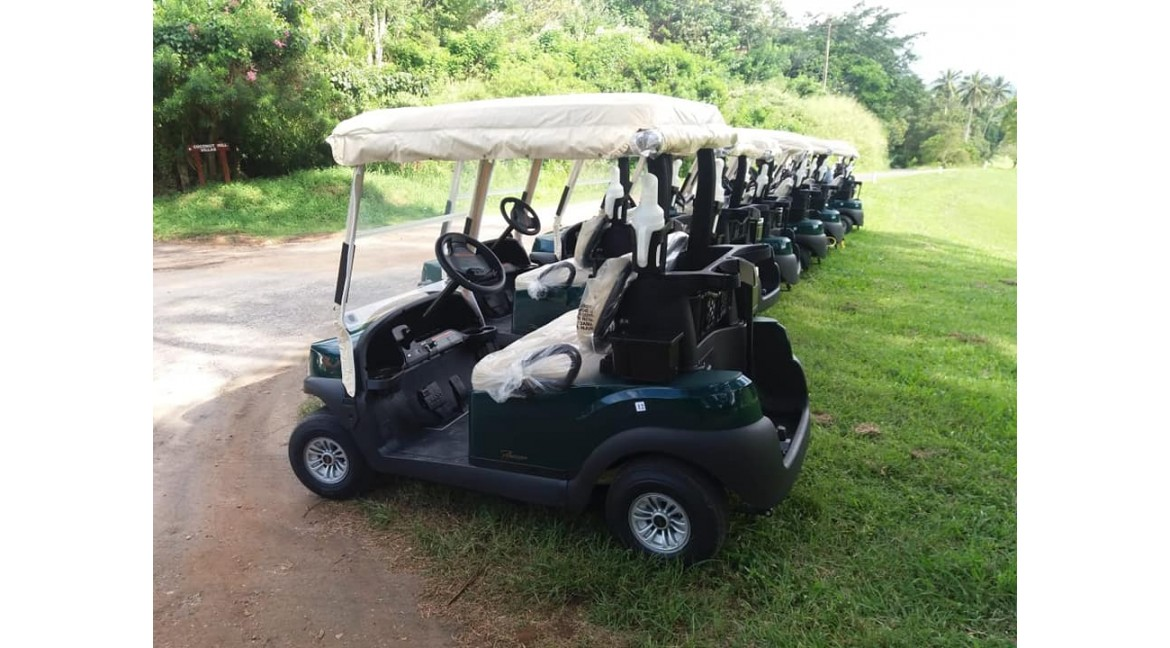 Delivery and handing over of 20 units CLUB CAR Electric Golf Buggies to VICTORIA GOLF & COUNTRY RESORT in Digana,